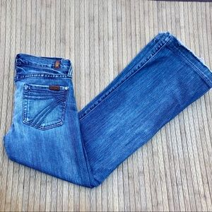 7 for All Mankind DOJO Distressed Flare Jeans 24